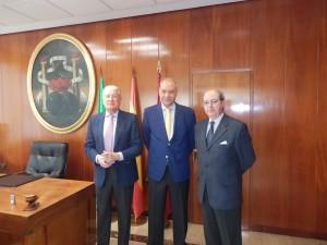 D. Miguel Nuche, D. Jorge Ramos y D. Ignacio Moreno.