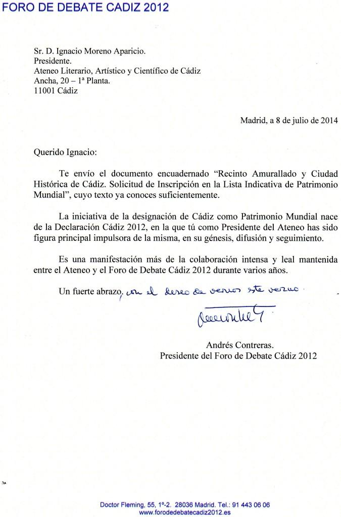 Foro 2012. Proyecto Cádiz Patrimonio de la Humanidad